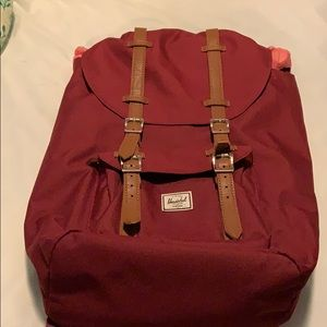 Herschel Supply Company Maroon Backpack Like New